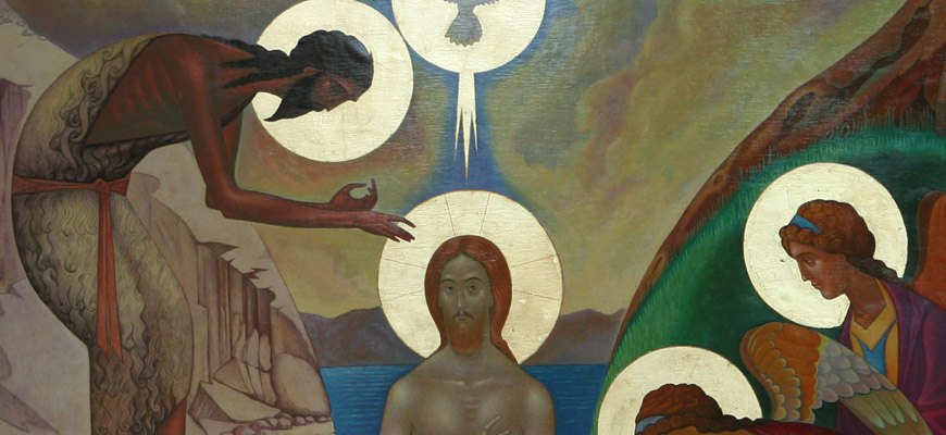 Icon of the Baptism of Jesus in the River Jordan
