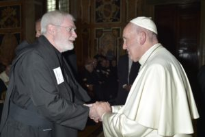 Fr Abbot and the Holy Father, September 2016