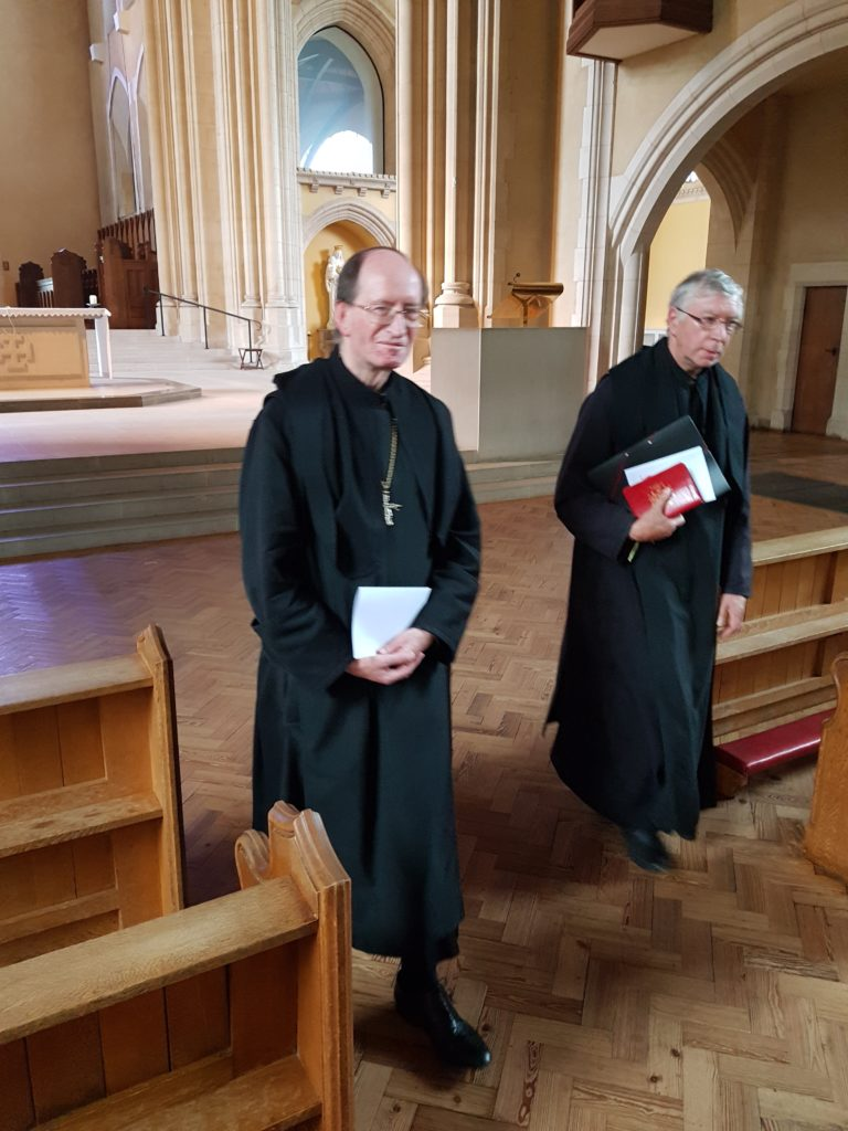 Abbot Dominic Taylor OSB (left) Abbot Geoffrey Scott OSB (right)